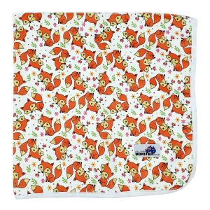 Fox Flowers Minky Baby Changing Mat