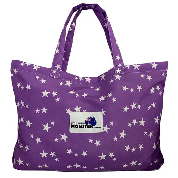 Twin Single Trolley Cover Purple Stars