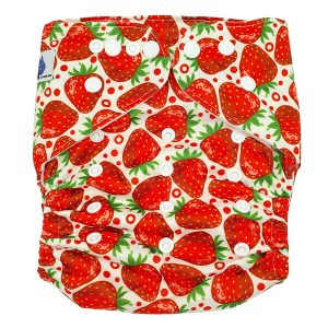 Strawberries XL Toddler Cloth Nappy Front