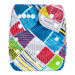Stripes Cloth Nappy Front