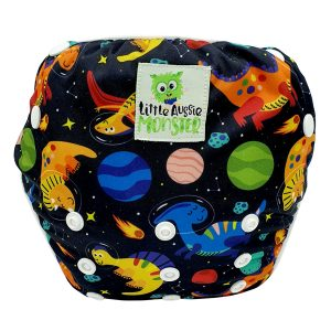 Toddler Large Swin Nappy Space Dino Front
