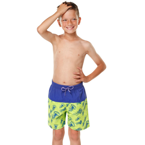 Boys Jelly Fish Board Shorts Model Front