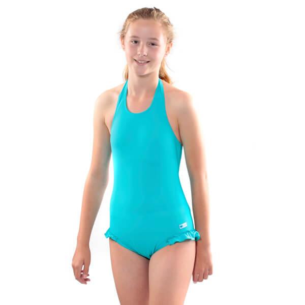 Halterneck Incontinence OnePiece Swim Aqua Model