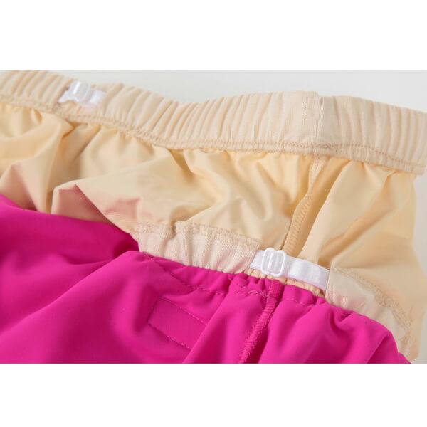 Halterneck Incontinence OnePiece Swim Pink Leg Strap