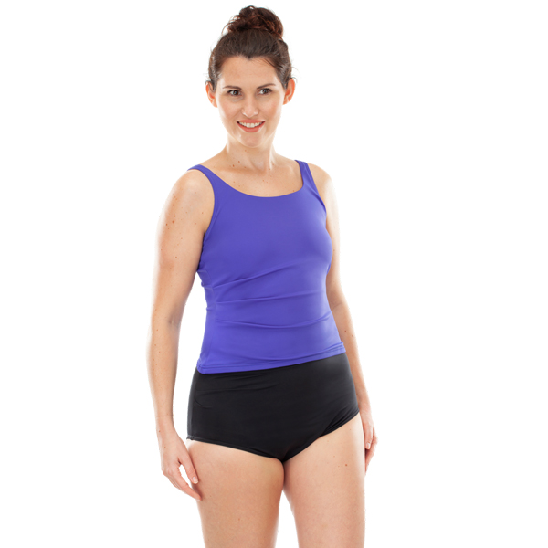 Ladies High Waisted Incontinence Briefs Model Front