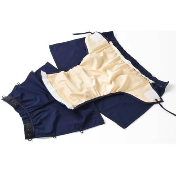 Mens Wrap Navy Swim Incontinence Shorts inside