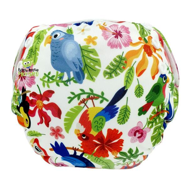 nappy Tropical Birds Back