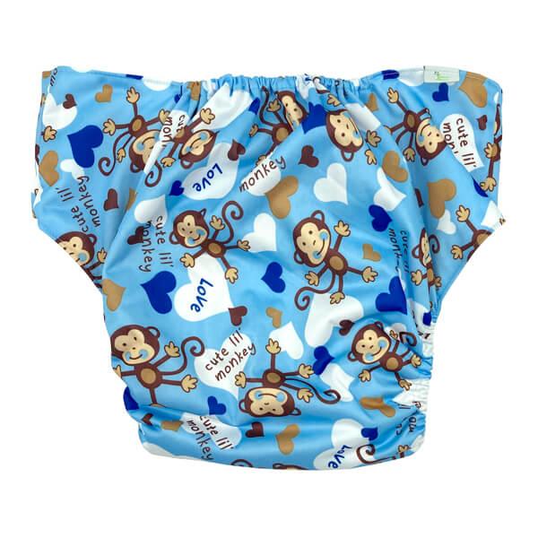 Adult Cloth Nappy Cheeky Boy Monkey Back