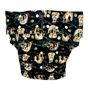 Adult Cloth Nappy Chill Sloth Front