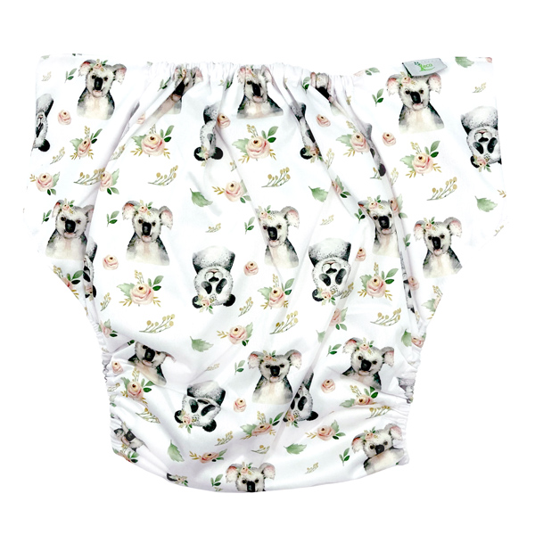 Adult Cloth Nappy Koala Panda Back