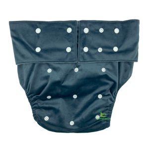 Adult Cloth Nappy Minky Grey Front