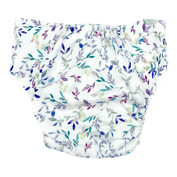 Adult Cloth Nappy Pretty Leaves Back
