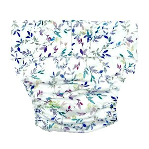 Adult Cloth Nappy Pretty Leaves Front