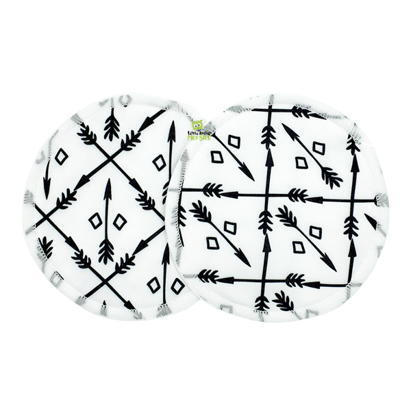 Breast Pads Black + White Arrows Front 2