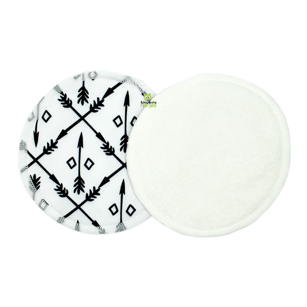 Breast Pads Black and White Arrows 1 Front 1 Back