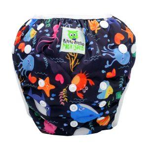 Baby washable swim nappy Deep Sea Front