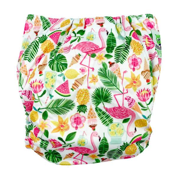 Flamingo & Fruit XL Junior Cloth Nappy Back