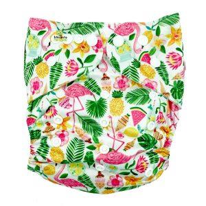 Flamingo & Fruit XL Junior Cloth Nappy Front