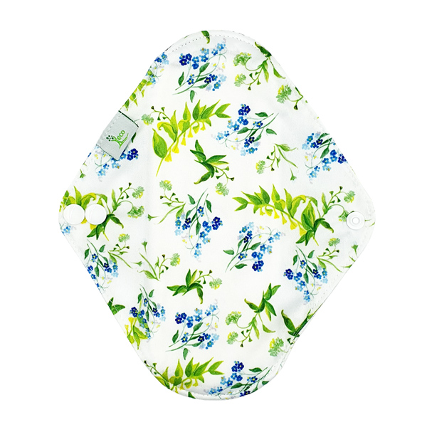 Incontinence Pad Medium Bell Flowers Back