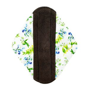Incontinence Pad Medium Bell Flowers Front