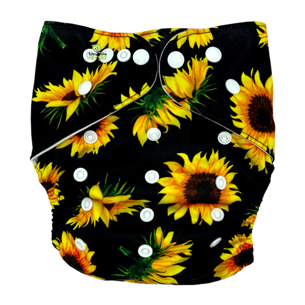Sunflowers XL Junior Cloth Nappy Front