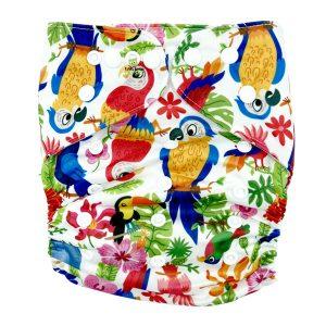 Tropical Birds XL Junior Cloth Nappy Front
