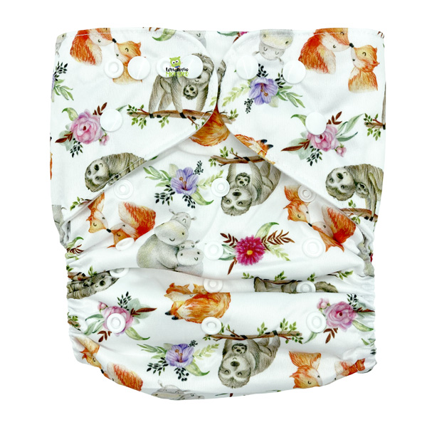 Cuddly Animals XL Junior Cloth Nappy Front