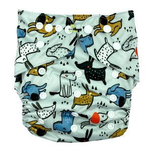 Nosey Dogs XL Junior Cloth Nappy Front