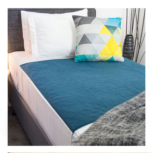 Reusable Bed Pad Tuck Ins Navy