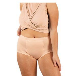 Womens Classic Beige Front Model
