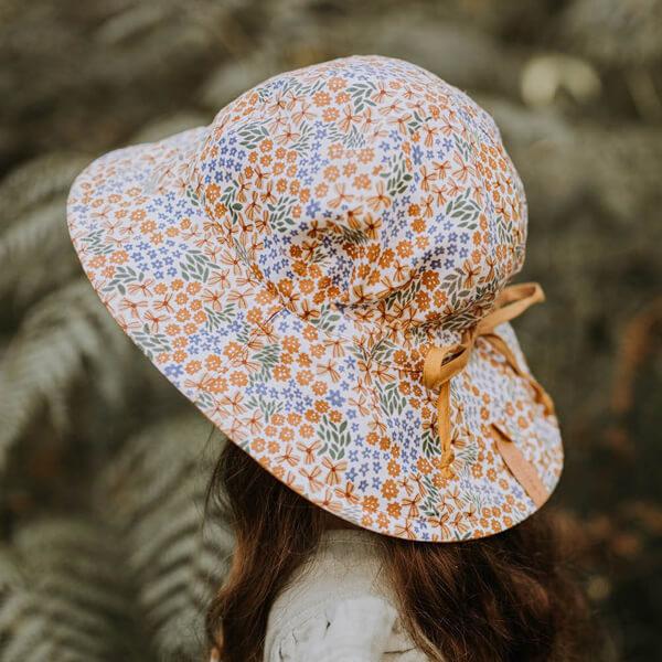Girls Reversable Sun Hat Mabel Model Back