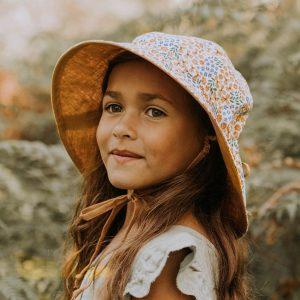 Girls Reversable Sun Hat Mabel Model Front