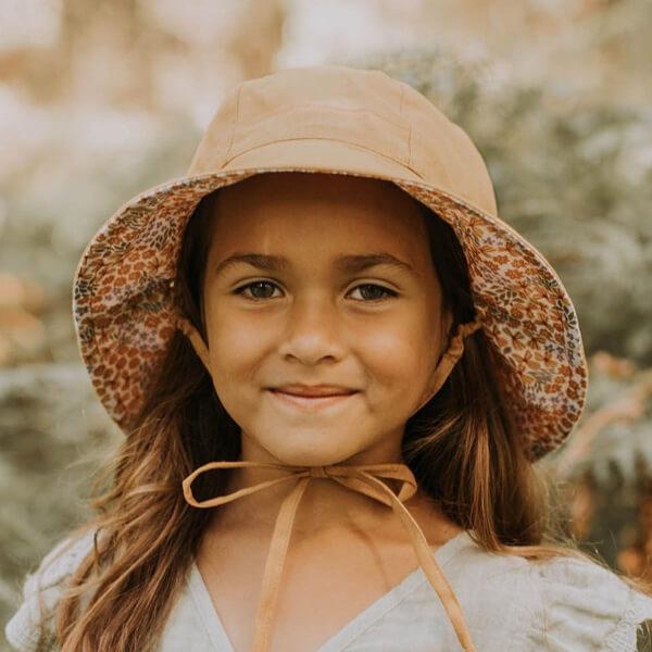 Girls Reversable Sun Hat Mabel Model Reverse