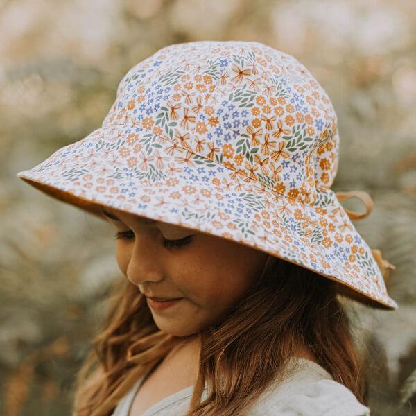 Girls Reversable Sun Hat Mabel Model Side