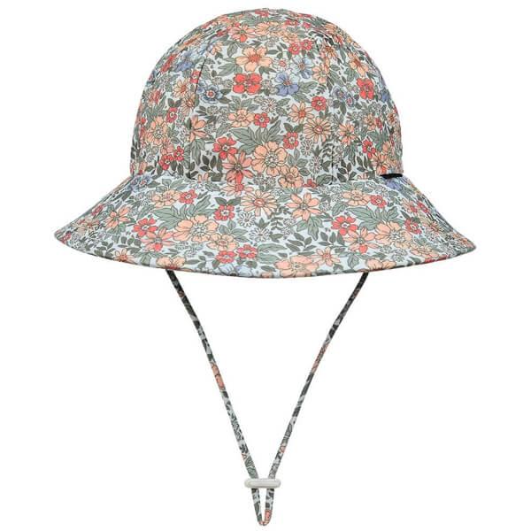 Girls Swim Hat Bucket Flower Front