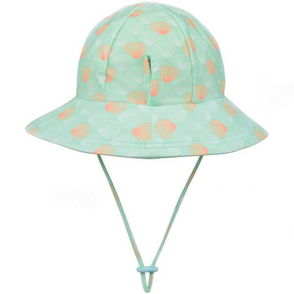 Girls Swim Hat Bucket Seashell Back