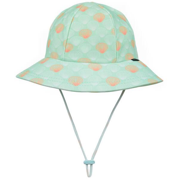 Girls Swim Hat Bucket Seashell Front