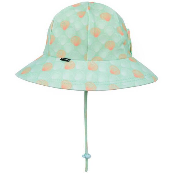Girls Swim Hat Bucket Seashell Side