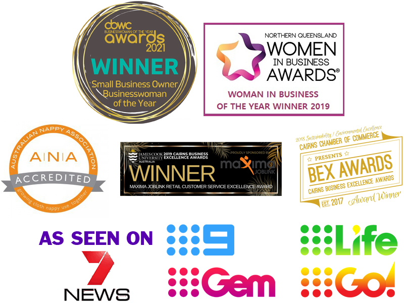 July 2021 Award Winning Business As Seen on TV Nappies