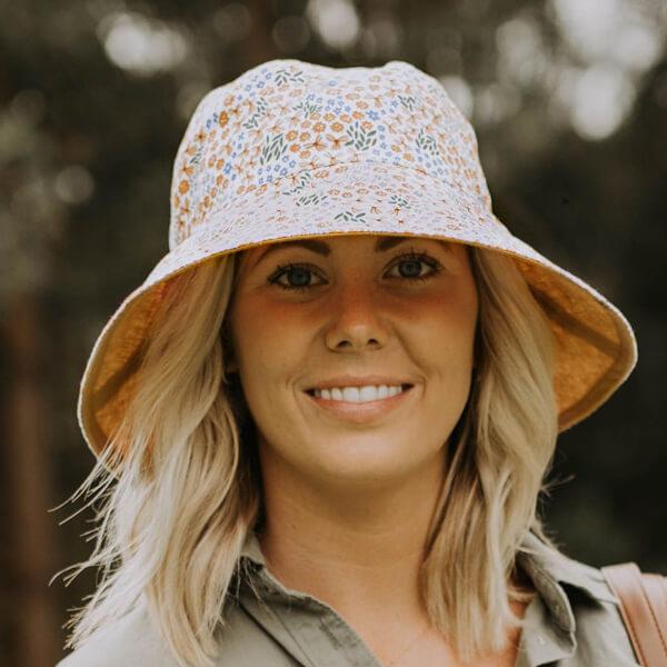 Ladies Reversible Sun Hat Mabel Model Front