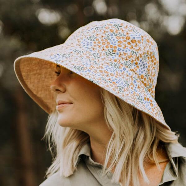 Ladies Reversible Sun Hat Mabel Model Side