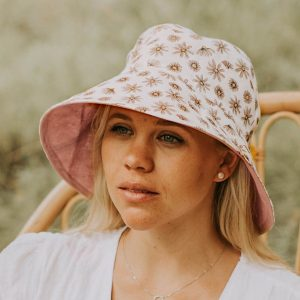 Ladies Reversible Sun Hat Paige Model Front