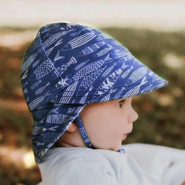 Boys Legionnaire Flap Hat Fish Model Side