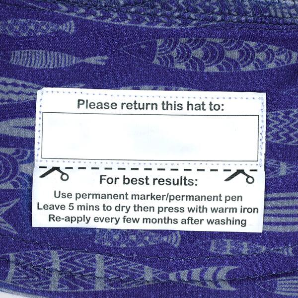Boys Legionnaire Flap Hat Fish Name Tag
