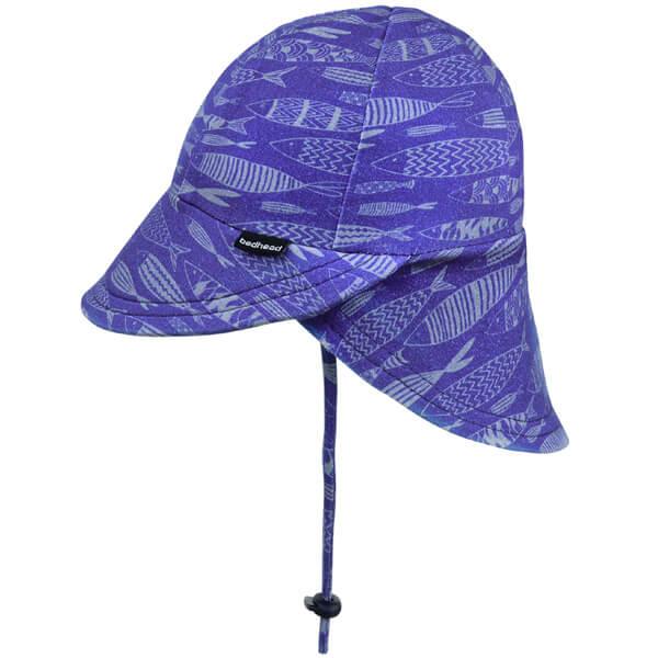 Boys Legionnaire Flap Hat Fish Side