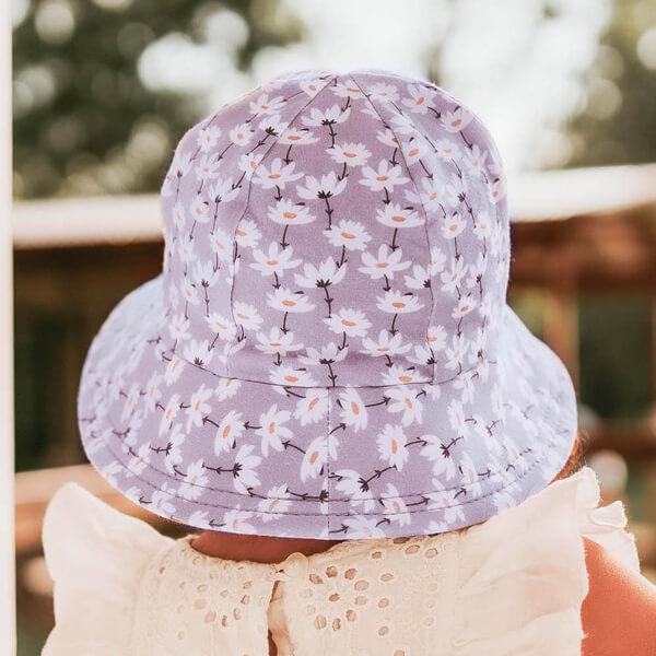 Girls Toddler Bucket Hat Cosmos Model Back