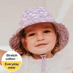 Girls Toddler Bucket Hat Cosmos Model Front