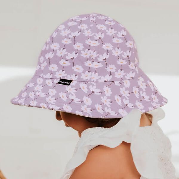 Girls Toddler Bucket Hat Cosmos Model Side