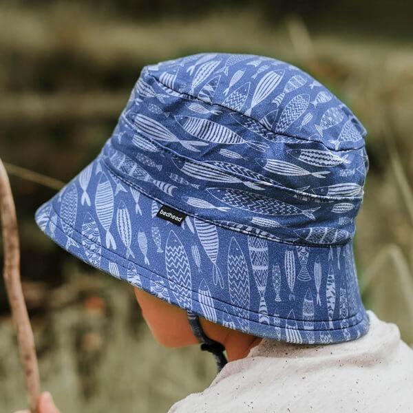 Kids Bucket Hat Fish Model Side