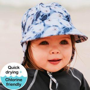 Kids Legionnaire Swim Hat Seal Model Front